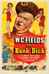 """The Bank Dick (Universal, 1940). Very Fine- on Linen. One Sheet (27.25"""" X 41"""") Style C"""