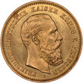 German States: Prussia. Friedrich III gold 10 Mark 1888-A MS65 NGC