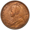 Australia: George V Penny 1919-(m) MS64 Red and Brown PCGS