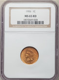 1906 1C MS65 Red NGC. NGC Census: (128/35). PCGS Population: (202/54). CDN: $410 Whsle. Bid for NGC/PCGS MS65. Mintage 9...