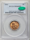 1911 1C MS66 Red PCGS. CAC. PCGS Population: (132/15). NGC Census: (34/1). CDN: $720 Whsle. Bid for NGC/PCGS MS66. Minta...