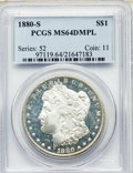 1880-S $1 MS64 Deep Mirror Prooflike PCGS. PCGS Population: (970/879). NGC Census: (793/553). CDN: $300 Whsle. Bid for N...