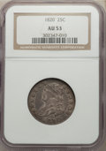 Bust Quarters, 1820 25C Small 0 AU53 NGC. NGC Census: (3/31). PCGS Population: (7/24). CDN: $1,700 Whsle. Bid for NGC/PCGS AU53. Mintage 1...