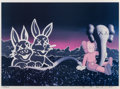 Prints & Multiples, KAWS (b. 1974). Undefeated Billboard, 2004. Offset lithograph in colors on board. 17 x 24 inches (43.2 x 61 cm) (image)...