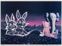 KAWS (b. 1974) Undefeated Billboard, 2004 Offset lithograph in colors on board 17 x 24 inches (43