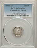 Seated Half Dimes: , 1860-O H10C -- Cleaning -- PCGS Genuine. AU Details. Mintage 1,060,000. ...
