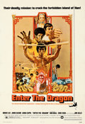 "Movie Posters:Action, Enter the Dragon (Warner Bros., 1973). Fine- on Linen. One Sheet (27"" X 41""). Bob Peak Artwork.. ..."