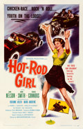 "Movie Posters:Bad Girl, Hot Rod Girl (American International, 1956). Very Fine on Linen. One Sheet (27"" X 41"").. ..."