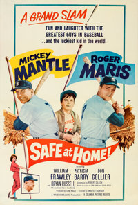 """Safe at Home (Columbia, 1962). Fine/Very Fine on Linen. Poster (40"""" X 60"""")"""