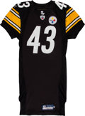Football Collectibles:Uniforms, 2011 Troy Polamalu Game Issued & Signed Pittsburgh Steelers Jersey, NFL Auction. ...