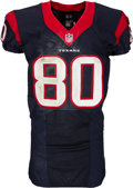 Football Collectibles:Uniforms, 2014 Andre Johnson Game Worn & Unwashed Houston Texans Jersey - Used 10/9 vs. Colts....