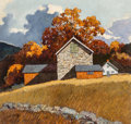 Paintings, Eric Sloane (American, 1905-1985). Buck's County Autumn. Oil on Masonite. 25 x 26 inches (63.5 x 66.0 cm). Signed lower ...