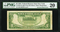 Fr. 1955-B $5 1934 Light Green Seal Federal Reserve Note. PMG Very Fine 20