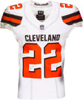 Football Collectibles:Uniforms, 2017 Jabrill Peppers Game Worn & Unwashed Cleveland Browns Jersey - Photo Matched to 12/31 vs. Steelers....