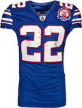 Football Collectibles:Uniforms, 2009 Fred Jackson Game Worn & Unwashed AFL 50 Throwback Buffalo Bills Jersey - Photo Matched 11/29 2 TD game vs. Dolphins!...