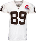 Football Collectibles:Uniforms, 2009 Daniel Graham Game Worn & Unwashed Denver Broncos AFL 50 Throwback Jersey - Used 10/19 vs. Chargers....