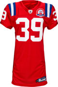 Football Collectibles:Uniforms, 2009 Laurence Maroney Game Worn & Unwashed New England Patriots AFL 50 Throwback Jersey - Used 10/13 vs. Titans and 12/6 vs. D...
