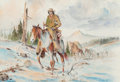 Works on Paper, Curtis Wingate (American, b. 1926). Packing In and Apache Scout (two works). Watercolor on paper, each. 13 x 19 inch... (Total: 2 )