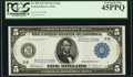 Fr. 850 $5 1914 Federal Reserve Note PCGS Extremely Fine 45PPQ