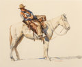 Works on Paper, Charles LaSalle (American, 1894-1958). The Horse Wrangler. Watercolor on paper. 15-1/2 x 19 inches (39.4 x 48.3 cm). Sig...