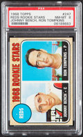 Baseball Cards:Singles (1960-1969), 1968 Topps Johnny Bench - Reds Rookies #247 PSA NM-MT 8....