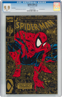 Spider-Man #1 Gold Edition (Marvel, 1990) CGC MT 9.9 White pages