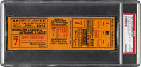 1924 World Series Game Seven Full Ticket from Walter Johnson's Personal Scrapbook