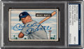 Autographs:Sports Cards, Signed 1951 Bowman Mickey Mantle Rookie #253 PSA/DNA Mint 9. ...