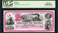 Obsoletes By State:Missouri, Kansas City, MO- City of Kansas $2 1877 Special Proof PCGS Gem New 65PPQ.. ...