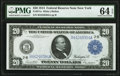 Large Size:Federal Reserve Notes, Fr. 971a $20 1914 Federal Reserve Note PMG Choice Uncirculated 64 EPQ.. ...
