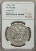 Morgan Dollars: , 1889-CC $1 -- Cleaned -- NGC Details. VF. Mintage 350,000. ...