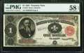 Large Size:Treasury Notes, Fr. 352 $1 1891 Treasury Note PMG Choice About Unc 58 EPQ.. ...