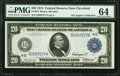 Large Size:Federal Reserve Notes, Fr. 976 $20 1914 Federal Reserve Note PMG Choice Uncirculated 64.. ...