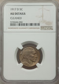 Buffalo Nickels: , 1917-D 5C -- Cleaned -- NGC Details. AU. Mintage 9,910,000. ...