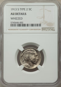 1913-S 5C Type Two -- Whizzed -- NGC Details. AU. Mintage 1,209,000. ...(PCGS# 3923)