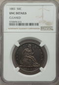 Seated Half Dollars, 1883 50C -- Cleaned -- NGC Details. Unc. Mintage 8,000....