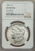 Morgan Dollars: , 1889-S $1 -- Cleaned -- NGC Details. AU. Mintage 700,000. ...