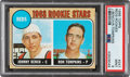 Baseball Cards:Singles (1960-1969), 1968 Topps Johnny Bench - Reds Rookies #247 PSA Mint 9. ...