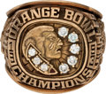 Football Collectibles:Others, 1993 Florida State Seminoles Orange Bowl Champions Ring Presented to Assistant Coach....