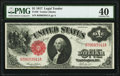 Fr. 36 $1 1917 Legal Tender PMG Extremely Fine 40