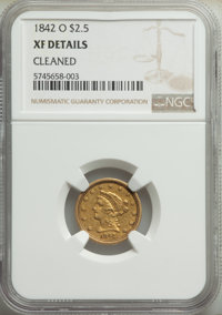 1842-O $2 1/2 -- Cleaned -- NGC Details. XF. Mintage 19,800. ...(PCGS# 7726)