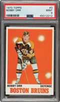 Hockey Cards:Singles (1970-Now), 1970 Topps Bobby Orr #3 PSA Mint 9 - Only One Higher....