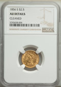 Liberty Quarter Eagles: , 1856-S $2 1/2 -- Cleaned -- NGC Details. AU. Mintage 72,120. ...