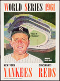 Autographs:Others, Mickey Mantle Signed 1961 World Series Program....