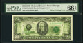 Full Back to Face Offset Error Fr. 2075-G $20 1985 Federal Reserve Note. PMG Gem Uncirculated 66 EPQ