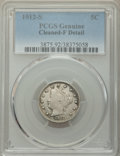 Liberty Nickels: , 1912-S 5C -- Cleaning -- PCGS Genuine. Fine Details. Mintage 238,000. ...