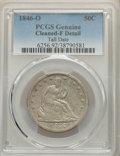 Seated Half Dollars: , 1846-O 50C Tall Date -- Cleaning -- PCGS Genuine. Fine Details. Mintage 2,304,000. ...