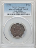 1804 1/2 C Spiked Chin -- Altered Surfaces -- PCGS Genuine. XF Details. ...(PCGS# 1075)