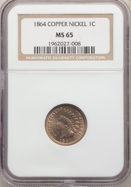 1864 Copper-Nickel 65 NGC