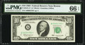 Low Serial Number 4793 Fr. 2016-A* $10 1963 Federal Reserve Star Note. PMG Gem Uncirculated 66 EPQ